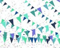 Blauwe vlaggen - verjaardag van een jongen Stock Foto