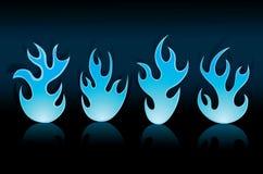 Blauwe vlam Stock Illustratie