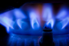 Blauwe vlam Stock Afbeeldingen