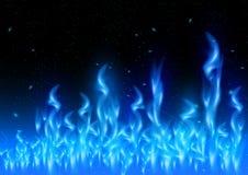 Blauwe vlam Stock Foto