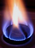 Blauwe vlam van gas Stock Afbeeldingen