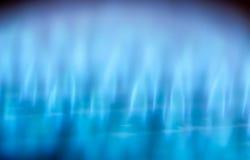 Blauwe vlammen stock afbeelding