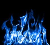 Blauwe vlammen Stock Afbeeldingen