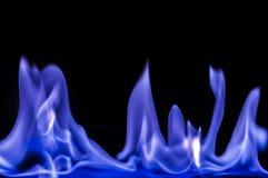 Blauwe vlammen, brand Stock Afbeeldingen