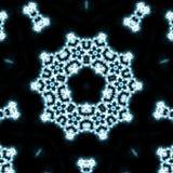 Blauwe vlammencaleidoscoop Stock Fotografie