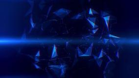 Blauwe Vlecht Abstracte Lijnen & Driehoeken Intro Logo Background vector illustratie