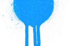 Blauwe vlek op wit stock afbeelding