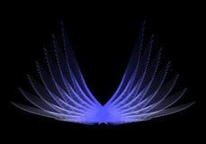 Blauwe Vleugels royalty-vrije illustratie