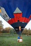 Blauwe vliegende ballon Royalty-vrije Stock Afbeelding