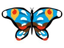 Blauwe vlinder vector illustratie