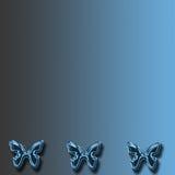Blauwe vlinderachtergrond Stock Illustratie