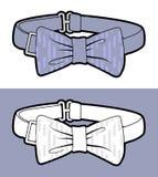 Blauwe Vlinderdas Royalty-vrije Stock Foto's