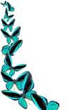 Blauwe vlinders Stock Afbeeldingen