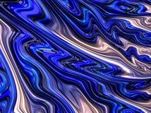 Blauwe vloeibare fractal Royalty-vrije Stock Afbeelding