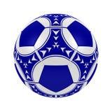 Blauwe voetbalbal Royalty-vrije Stock Afbeelding