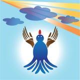 Blauwe vogel Stock Afbeelding