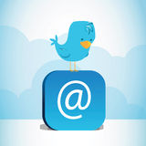 Blauwe Vogel stock illustratie
