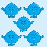 Blauwe vogelmascotte vector illustratie