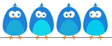 Blauwe vogels stock illustratie