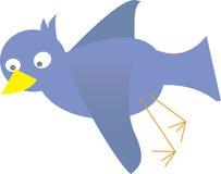 Blauwe vogelvector Royalty-vrije Stock Afbeelding