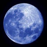 Blauwe volle maan Stock Foto