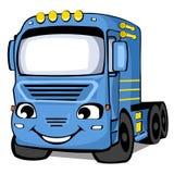 Blauwe vrachtwagen Royalty-vrije Stock Afbeeldingen