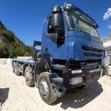 Blauwe vrachtwagen Royalty-vrije Stock Fotografie