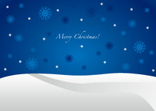 Blauwe Vrolijke Kerstkaart -   Stock Afbeeldingen