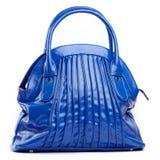 Blauwe vrouwelijke zak Stock Fotografie