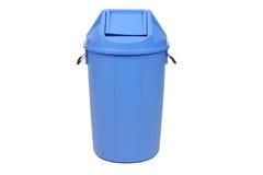 Blauwe vuilnisbak Stock Afbeelding