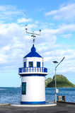 Blauwe waarschuwingstoren Royalty-vrije Stock Afbeeldingen