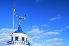 Blauwe waarschuwingstoren Stock Afbeeldingen