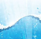 Blauwe waterachtergrond Royalty-vrije Stock Foto's