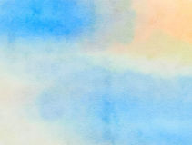 Blauwe Watercolour-Document Was royalty-vrije stock afbeelding