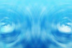 Blauwe watergolven Royalty-vrije Stock Afbeelding