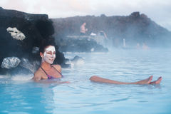 Blauwe waterlagune Royalty-vrije Stock Afbeelding