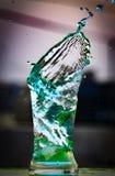 Blauwe waterplons royalty-vrije stock afbeeldingen