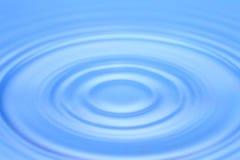Blauwe waterrimpeling Royalty-vrije Stock Fotografie