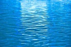 Blauwe waterrimpeling. Stock Afbeeldingen
