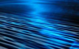 Blauwe waterrimpelingen Royalty-vrije Stock Afbeelding