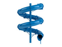 Blauwe waterslide Stock Afbeelding