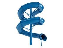Blauwe waterslide Royalty-vrije Stock Fotografie