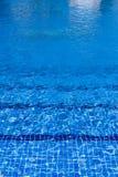 Blauwe waterspiegelachtergrond in pool Stock Afbeelding