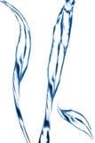 Blauwe waterstraal, het bespatten Royalty-vrije Stock Afbeelding