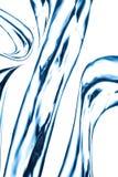 Blauwe waterstraal, het bespatten Stock Foto