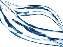 Blauwe waterstraal, het bespatten Royalty-vrije Stock Fotografie