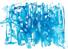 Blauwe Waterverf stock illustratie