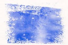 Blauwe Waterverf Stock Afbeeldingen