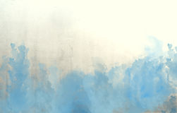 Blauwe waterverf abstracte textuur als achtergrond Stock Foto's