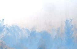 Blauwe waterverf abstracte textuur als achtergrond Stock Afbeeldingen